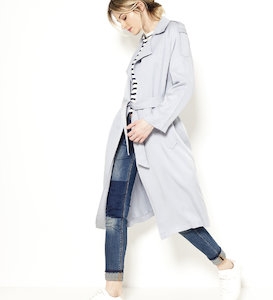 Trench fluide femme