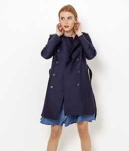 Trench long femme