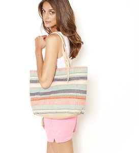 Sac femme rayures multicolores
