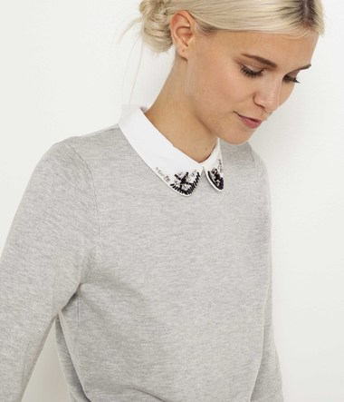 Pull col claudine femme