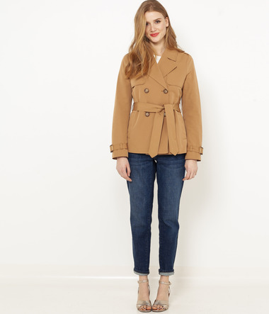 Trench-coat court femme