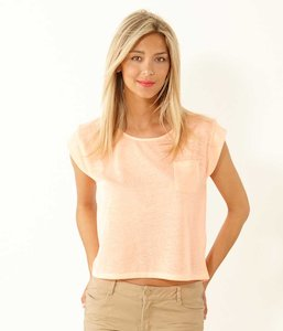 T-shirt cropped femme