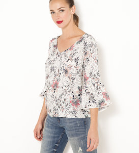 Blouse manches pagode femme