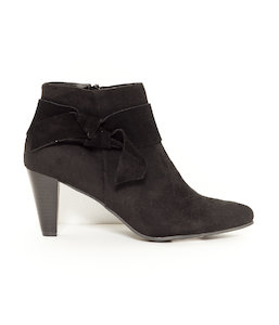 Bottines femme décor noeud