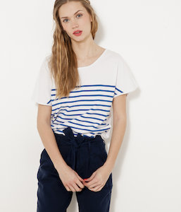 Pull fin manches courtes femme