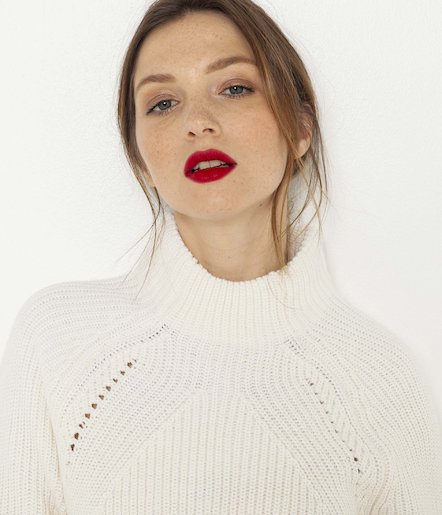 Pull grosse maille femme