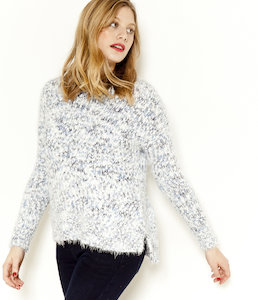 Pull femme maille doudou