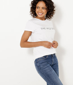 T-shirt femme 100% coton « The Wilde Side »