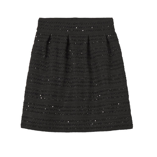 Jupe corolle sequins femme
