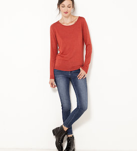 Pull encolure ronde femme