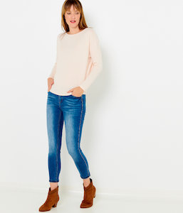 Pull fin ample femme
