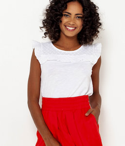 T-shirt broderie anglaise femme