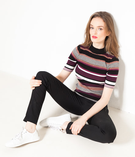 Pull femme à rayures