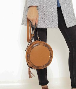 Sac besace rond femme