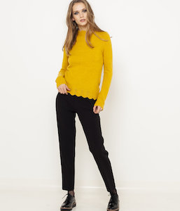 Pull maille mousseuse femme