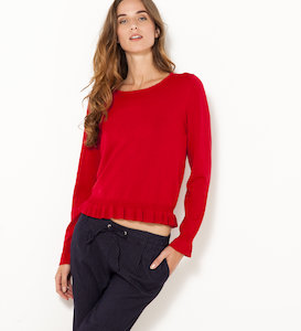 Pull volants femme