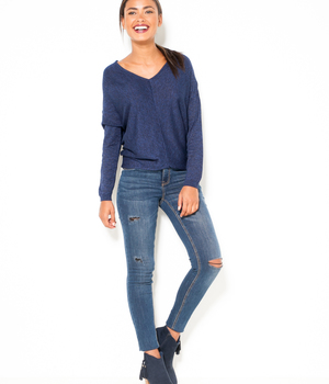 Pull femme loose chiné